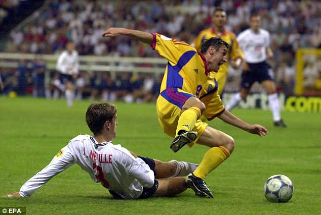 Having given away a penalty at Euro 2000, Neville faced abuse when he returned home