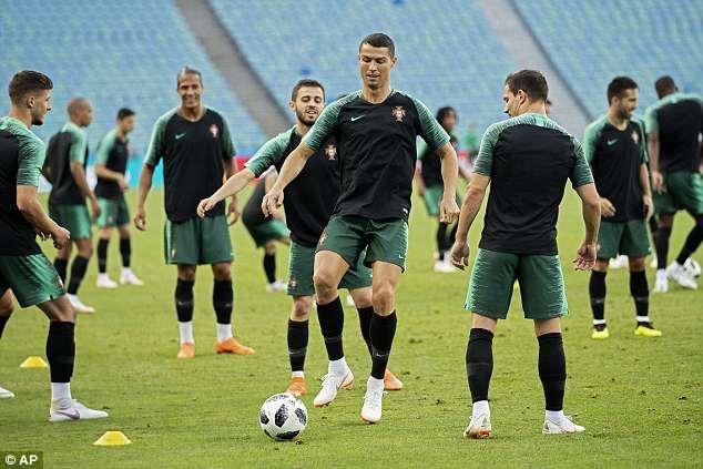 Ronaldo and his Portugal team-mates enjoyed some possession-based drills on Thursday