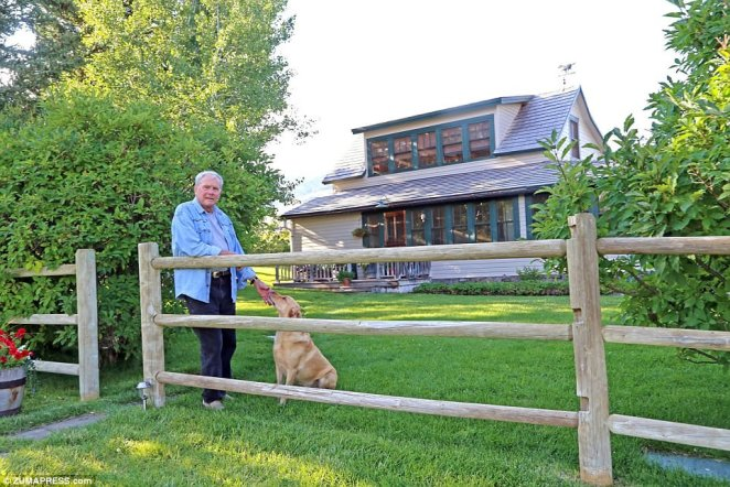 Brokaw with expensive taste: Tom Brokaw (above at his Monatana ranch)  is unloading two of his three properties in the wake of sexual misconduct allegations, which he has firmly denied