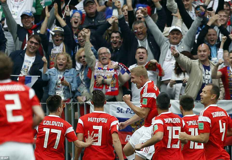 Russia are the lowest-ranked side in the tournament but you wouldn't have known it by their impressive start in Moscow