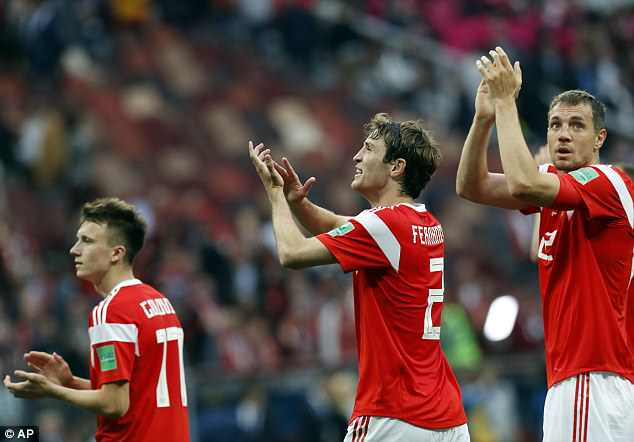 Russia's players produced a dominant display against Saudi Arabia in Moscow on Thursday