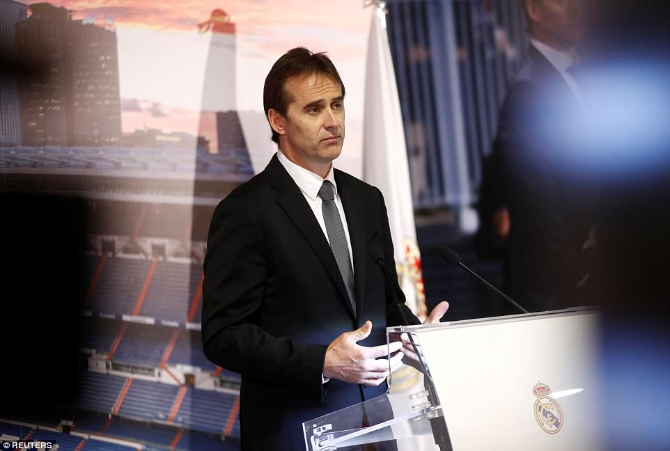 Lopetegui said that it was the 'happiest day of my life' as he returned to coach the side for which he used to play