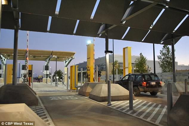 The tent city will be in the desert 40-miles south west of El Paso, near theTornillo port of entry (pictured)