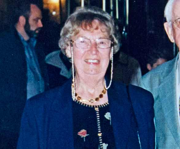 His wife (pictured) died aged 97 and left the entirety of her £400,000 assets to her two sons