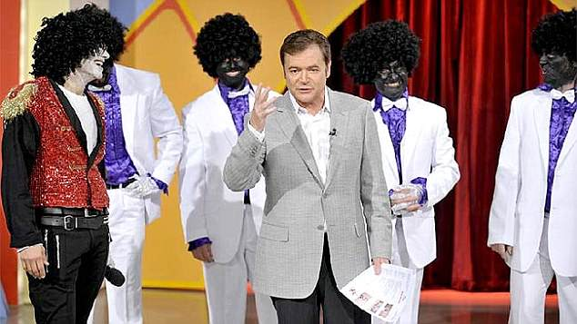 Shocking:u00A0Another incident in 2009 involved a comedy troupe dressed up as the Jackson Five in blackface for Hey Hey's regular Red Faces segment (pictured)