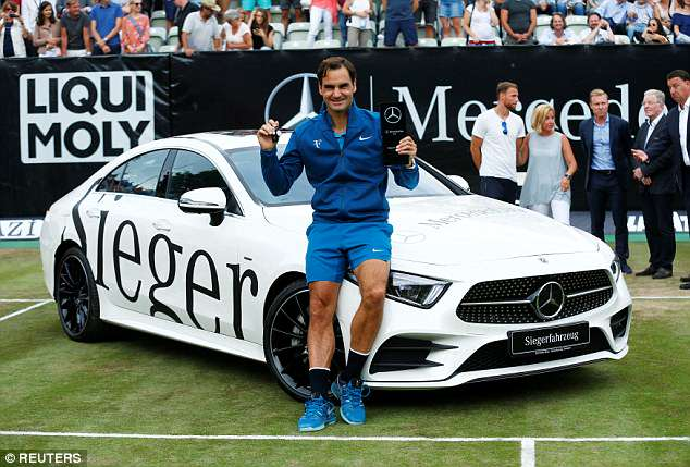 Federer's victory shows that he is in good form as Wimbledon draws ever closer