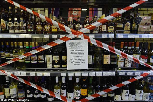 Supermarkets in the city have also banned the sales of alcohol in glass bottles as authorities attempt to clampdown on any outbreak of violence ahead of kick off