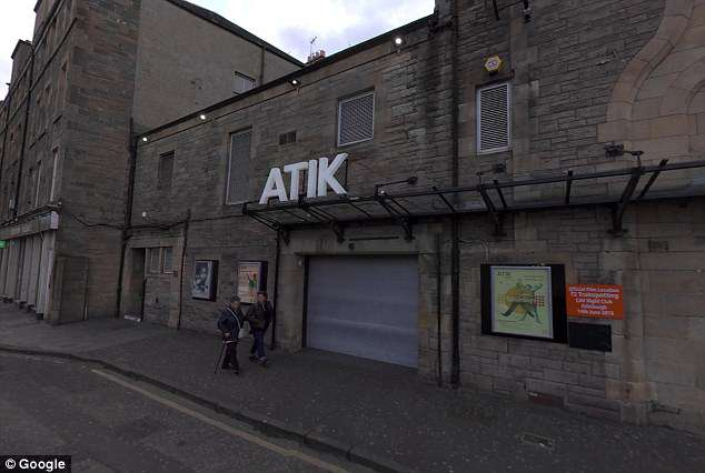 It is alleged that Leslie put his hand on a woman's bottom in Atik nightclub in Edinburgh