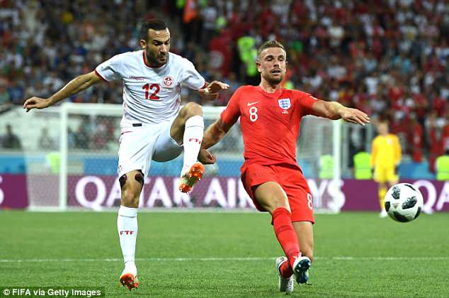 Jordan Henderson (right) ran the game in the first half and his distribution wasimpeccable