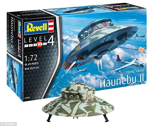 A Nazi flying saucer toy has been taken off the shelves in Germany - amid claims it suggests Hitler's scientists successfully built a space ship