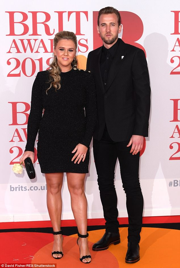 Proud: Harry and Katie are currently expecting their second child, and announced their engagement in July of last year