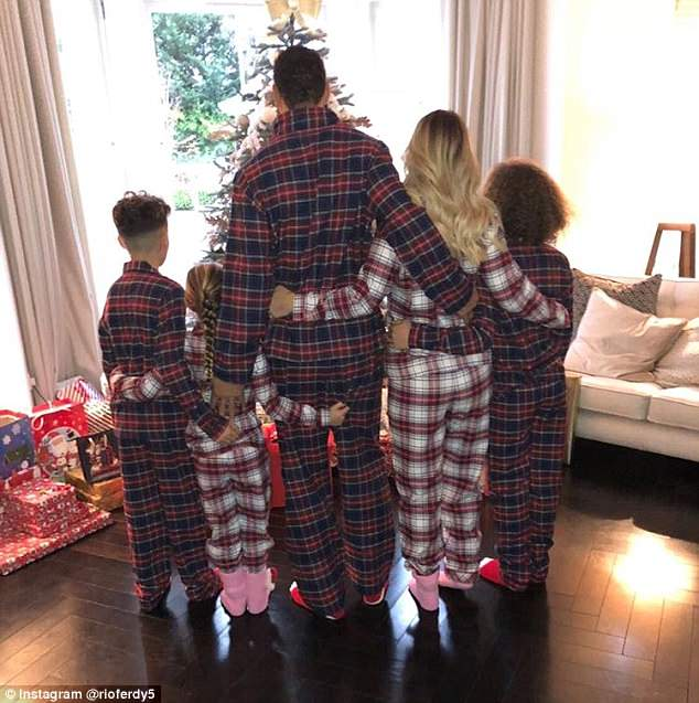 Happy families:Having left the spotlight to be with the kids, she said: 'I think it was the right decision to leave the spotlight when I came into the family, I don't think it would have been right on the children as I had to get to know the kids'