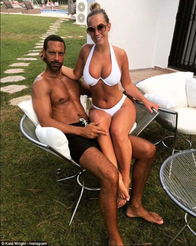 Happy days: The happy couple are briefly parted due to Rio's pundit work on the World Cup