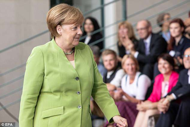 The 31-year-old leader said Europe also blamed Angela Merkel (pictured) for forcing countries to reinstate border controls when she welcomed hundreds of thousands of migrants into the Germany three years ago