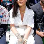 Rihanna sizzle in white at the Louis Vuitton Menswear SS19 for Paris fashion Week