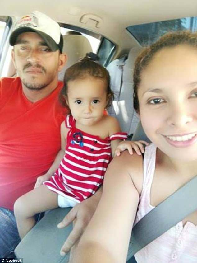 Denis Javier Varela Hernandez (far right) spoke out about his wife Sandra and daughter, Yanela