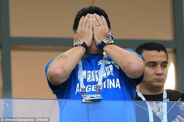 The former national manager can't bear to watch as Argentina go a goal down on the night