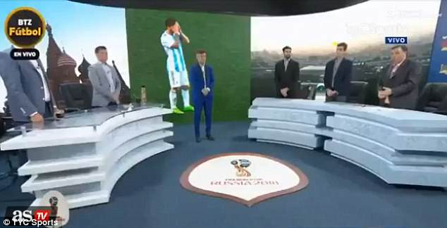Argentinian TV presenters decided to hold a minute's silence after their loss on Thursday