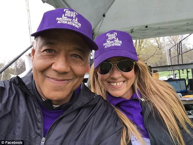 She feels like she has been given a second chance and a new purpose, Camille has become a tireless advocates for pancreatic cancer research through the Pancreatic Cancer Action Network, including appearing on ABC News with her 'crush,' Ron Claiborne (left)