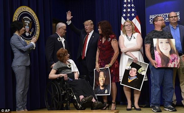 Family after family took the mic to praise the president and vice president for making illegal immigrant crime a priority of their administration