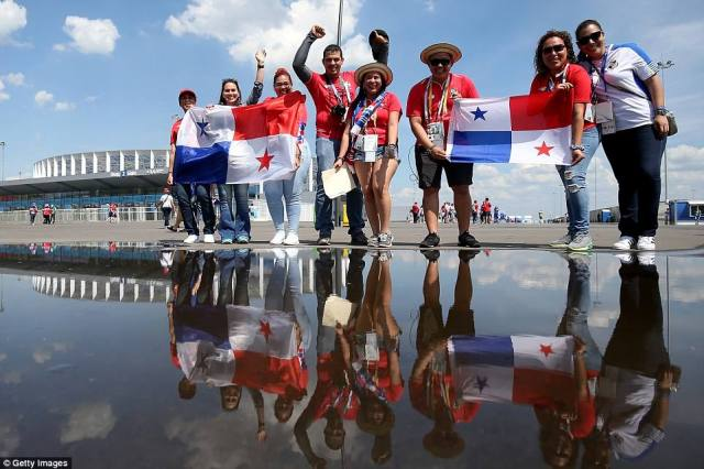 Panama fans also flocked to Nizhny Novgorod's stadium to watch their side take on England at the World Cup on Sunday