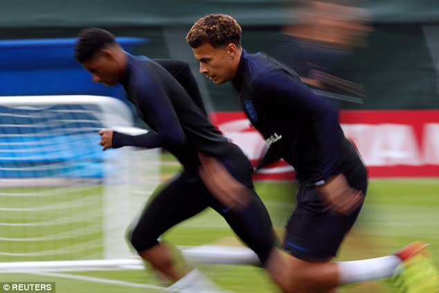 Dele Alli is back in action after picking up a minor thigh injury in England's opening fixture