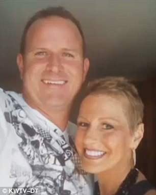 In 2010, Rhonda was diagnosed with stage two breast cancer. Pictured: Rhonda with her husband, Darren