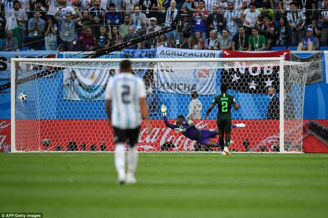 Messi then fired a finish across Francis Uzoho with his weaker right foot into the left corner before wheeling away in delight