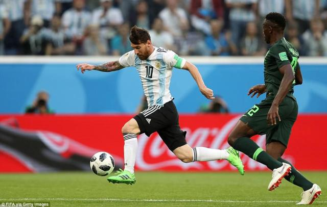 The Argentina talisman brought the ball down and his second touch teed himself up for the shot perfectly