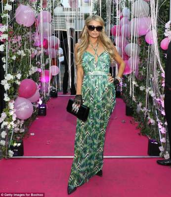 Paris Hilton and fiance,Chris Zylka at her new collection launch in Paris