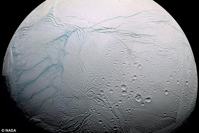 Humanity's best hope of finding an alien life could be Saturn's moon Enceladus (pictured). Scientists say the icy celestial body is the only world in the solar system apart from the earth that contains all the ingredients needed for life. Now Russian-Israeli billionaire Yuri Milner is planning the first private mission in space to search for it.