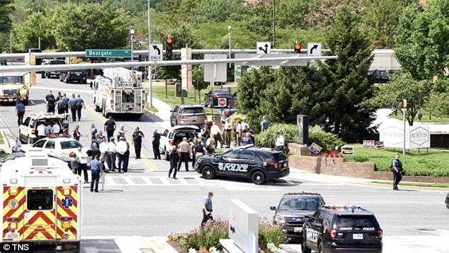 Police, ATV and the FBI shut down the surrounding streets near the newsroom amid the shooting
