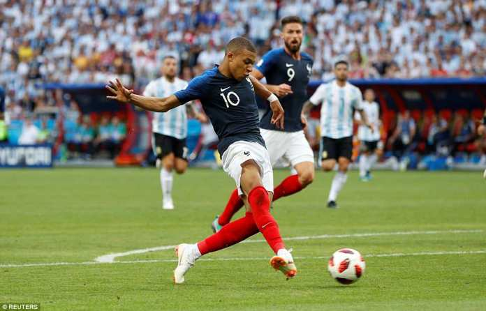 The Monaco youngster then finished off a beautifully constructed attack to seal France's progression to the last eight