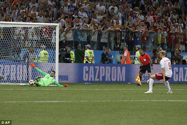 Croatia goalkeeper Danijel Subasic saved three Danish penalties to help seal a 3-2 victory