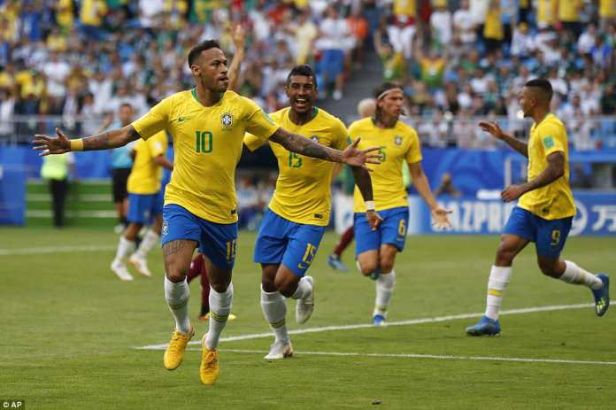 Neymar looked to be reaching some of his best form and looked a constant threat for Brazil, tormenting the defence