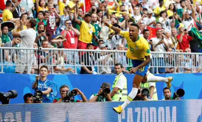 The Selecao fans in the crowd went wild for their superstar after he put Tite's team in control of the tie