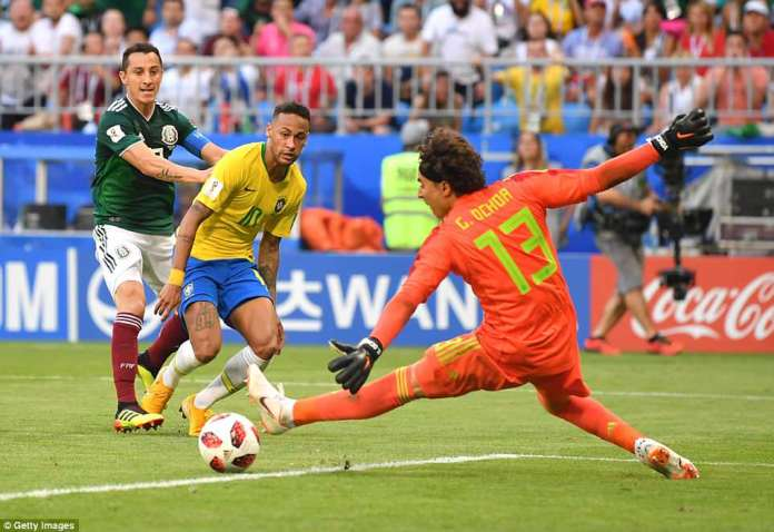 Neymar provided the assist after bursting clear down the right before hitting an early ball into Firmino's path