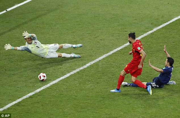 A goal in the finals seconds of stoppage time by Nacer Chadli handed Belgium victory