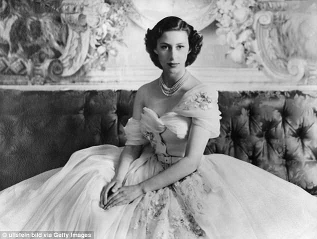 A stunning couture gown worn by PrincessMargaret on her 21st birthday (above) is set to go on display as part of a major V&A exhibition