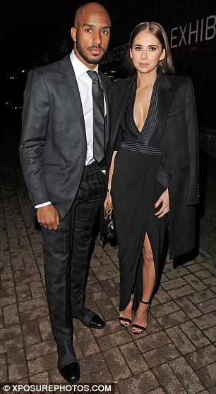 England footballer Delph, 28, is pictured with his wife Natalie in Manchester in 2015