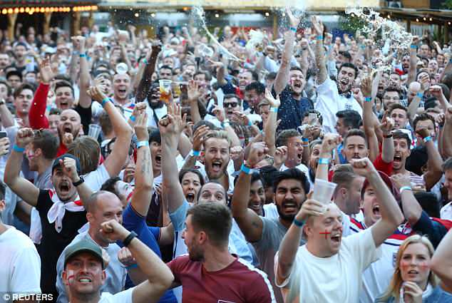 England fans go wild in Croydon after the Colombia win and Saturday's quarter final with Sweden is causing a major clash with events including weddings and music festivals
