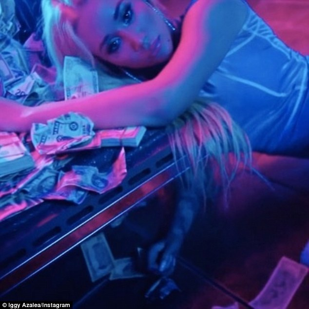 Back on top!  Iggy is seeing chart success with raunchy single KREAM after her last three singles Switch, Mo Bounce and Savior failed to reach the top 100