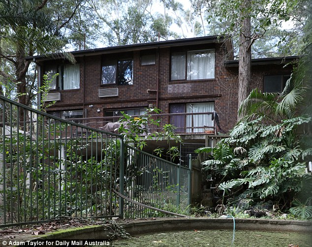 Edwards, 67, turned the gun on himself at a rented home near Normanhurst, northern Sydney (pictured)