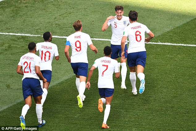 The Three Lions wore white shirts in games against Panama and Belgium but with blue shorts