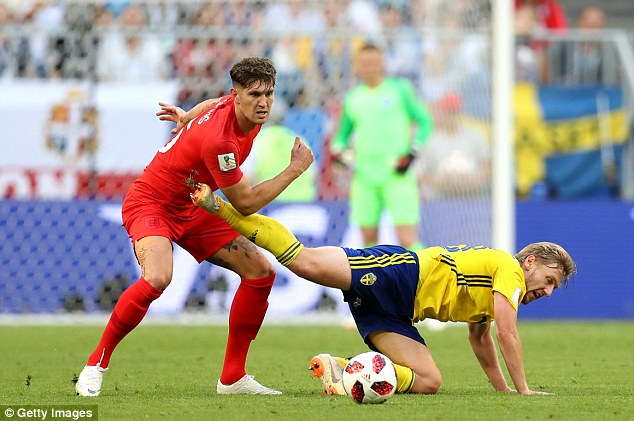 Centre back John Stones has demonstrated that he is well and truly up for the fight