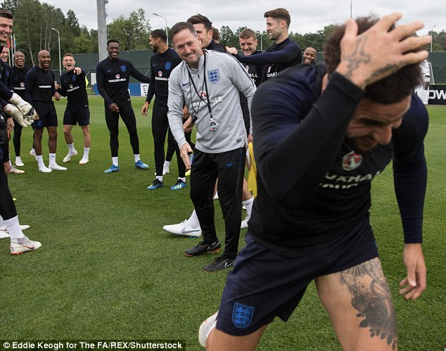 The England squad found the scenario hilarious and even the coaching staff joined in the fun
