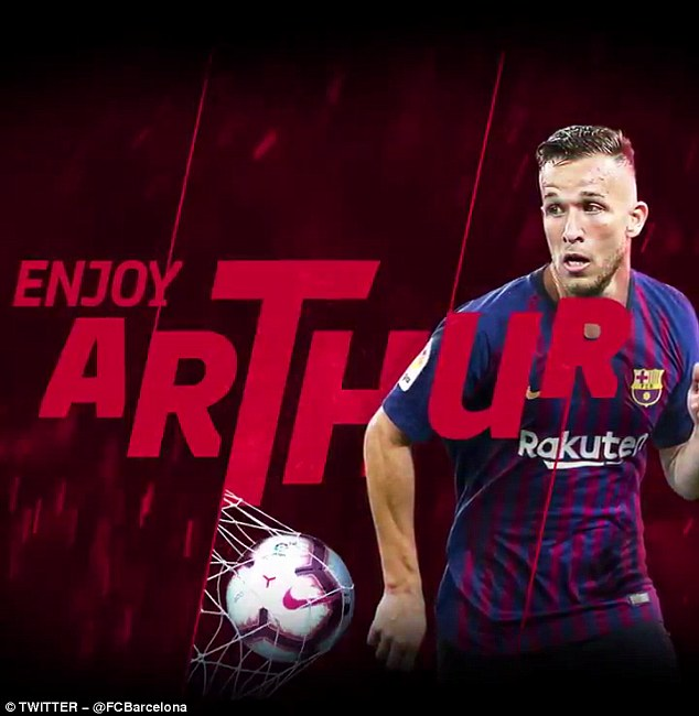 The La Liga side welcomed Arthur with a bizarre talking football video on Twitter on Monday