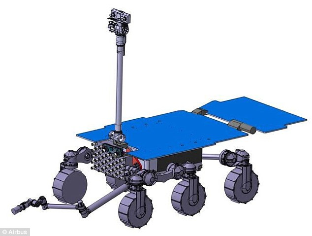 Airbus' early design for the fetch rover: ESA has now awarded a  $5.2 million contract to design a concept for a rover that can collect those samples on the red planet