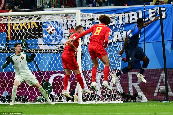 The Barcelona defender timed his run to perfection and Thibaut Courtois could not react in time to make the stop