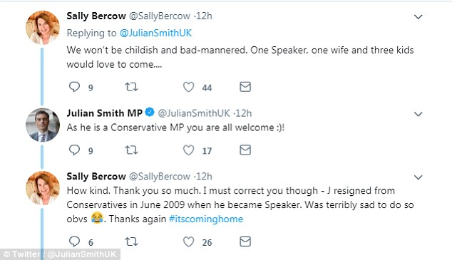 Sally Bercow, wife of John Bercow the Speaker of the House of Commons, said she would be happy to snap up the invite